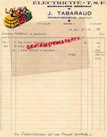 87 - COUSSAC BONNEVAL - RARE BELLE FACTURE J. TABARAUD- ELECTRICITE TSF- QUINCAILLERIE-1940 - Electricity & Gas
