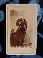 Photo CDV Anonyme - Militaire Officier De La Garde Nationale Médailles Repro Vers 1880 D'un Portrait Second Empire L354A - Old (before 1900)