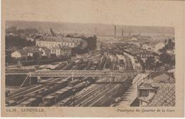 54 - LUNEVILLE - Panorama Du Quartier De La Gare - Luneville