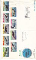 Océanie - Nieu - Lettre FDC Recom De 1983 ° - Protection Des Baleines - Valeur Timbres Oblitérés = 10 € - Lettre ++ - Niue