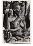 CPA Carte Photo L'Afrique Qui Disparait - Mangbetu Deformation Du Crâne - Congo - Kinshasa (ex Zaire)