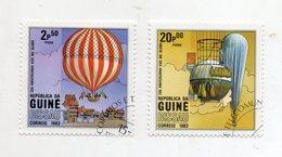 GUINEA BISSAU - 1983 - Lotto 2 Francobolli Tematica Trasporti - Mongolfiere - Usati - (FDC11440) - Guinea-Bissau
