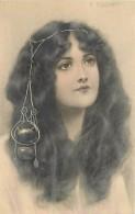 Illustration De F . TOUSSAINT , Femme Aux Bijoux , Art Nouveau , MM VIENNE , * 314 48 - Vienne