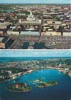 Finland - Helsinki - South Harbour. 2 Cards  Sent To Sweden 1976   # 7960 - Finland