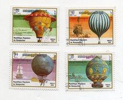 KAMPUCHEA (CAMBOGIA) - 1983 - Lotto 4 Francobolli Tematica Trasporti - Mongolfiere - Usati - (FDC11443) - Cambogia