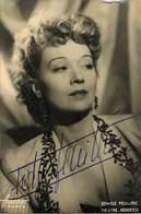 Portrait Avec Autographe D'Ewige Feuillere Photo Harcourt - Artistas
