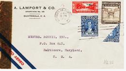 Guatemala, En  1943  Correos Aero Pour Les Usa, Timbre Coupé En Deux !  TB - Guatemala