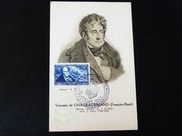 CARTE MAXIMUM    VICOMTE DE CHATEAUBRIAND - 1940-49