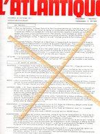 PAQUEBOT FRANCE  JOURNAL  L'ATLANTIQUE DU 22/10/1971 RARE - Vecchi Documenti