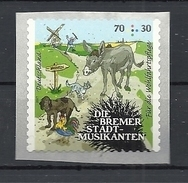 Deutschland / Germany / Allemagne 2017 3287 ** Die Bremer Stadtmusikanten Selbstklebend Self-adhesive (09. 02. 2017) - Unused Stamps