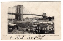 CPA Brooklyn New York United States The Bridge  New Haven Line Tramway By Illustated Postal Card Co 203 Broadway 1903 - Brooklyn