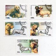 """CAMBOGIA - 2000 - Lotto Di 5 Francobolli Tematica """" Animali - Cani """" - Usati -  (FDC11451) - Cambogia"""