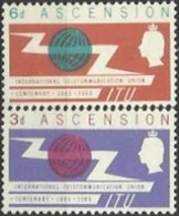 ASC 1963-92-3 100A°I T U, ASCENSION, 1 X 2v, MNH - Organizations