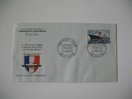 Enveloppe 1962 Entête Cie Générale Transatlantique  Cachet  Premier Jour Paquebot France  Le Havre   N° 1325 - Marcophilie (Lettres)