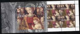 CROATIA 2002 Christmas Booklet With 10 Stamps MNH / **  Michel 626, (MH 08) - Croatia