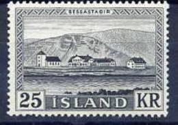 ICELAND 1957 Bessastadir 25 Kr. MNH (**).  Michel 319 - Nuevos