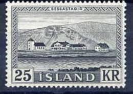 ICELAND 1957 Bessastadir 25 Kr. MNH (**).  Michel 319 - 1944-... Republic