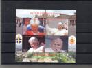 CONGO SUR LES PAPES JEAN PAUL II ET BENOIT XVI - Fantasie Vignetten