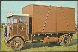1935 Leyland Beaver 8.6 Litre Flat Lorry - D & M Design Postcard - Camion, Tir