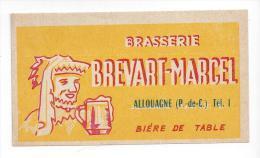 Etiquette De  Bière De Table  -   Brasserie Brévart Marcel  à  Allouagne  (62) - Bière