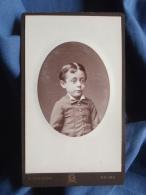 Photo CDV Bordéria à Reims - Portrait Henri Auffroy, Petit Garçon Vers 1875 L389B - Photographs