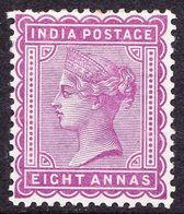 INDIA 1882 QV 8 Anna Magenta SG99 MH - 1882-1901 Empire