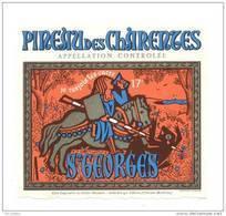 Etiquette  Pineau Des Charentes   -  Saint  Georges  -  Le Cellier Oléronais è Saint Georges D'Oléron (17) - Labels