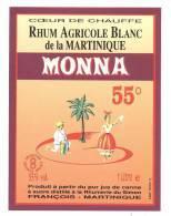 Etiquette De Rhum  Agricole Blanc De La Martinique -  Monna  -  Simon François  Martinique - Rhum