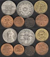 Bhutan 7 Coin Set, 1835-1979  All EF-AU-BU Rare - Bhutan