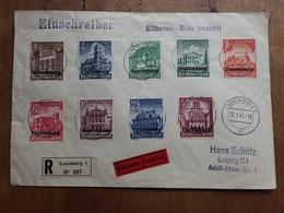 LUSSEMBURGO 1941 - Occupazione Tedesca Serie Completa Su Raccomandata Espresso Con Annullo Arrivo + Spese Postali - 1940-1944 Occupazione Tedesca