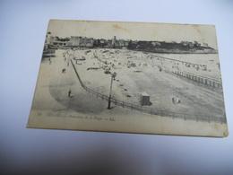 35 ILLE ET VILAINE CARTE ANCIENNE EN NOIR ET BLANC DE 1917 DINARD PANORAMA DE LA PLAGE EDIT LEVY - Dinard