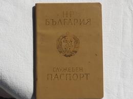 Passeport Service BULGARIE 1986   Visas URSS USSR   Passeport Reisepass Pasaporte Border Stamp   A 179 - Historical Documents