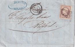 ALGERIE 1858 LETTRE DE THANN - Marcophilie (Lettres)