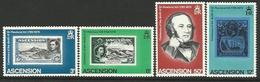 ASC 1979 FAMOUSE PERSONS, ASCENSION , 1 X 4v, MNH - Rowland Hill