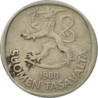 Monnaie, Finlande, Markka, 1980, TB, Copper-nickel, KM:49a - Finlande