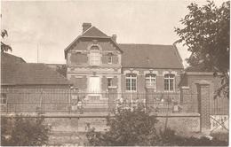 Dépt 80 - DAVENESCOURT - ÉPREUVE De CARTE POSTALE (photo R. LELONG) + PLAQUE De VERRE D'origine - L'École Des Filles - France