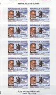 Guinée Louis Pasteur Feuillet De 10 Imperf  MNH - Louis Pasteur