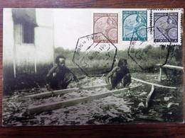 C.P.A. TIMOR : Timor Português : Carpinteros Indigenas, 3 Selos - East Timor