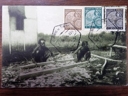 C.P.A. TIMOR : Timor Português : Carpinteros Indigenas, 3 Selos - Timor Oriental