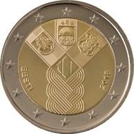 """ESTONIA   2€ 2.018 2018 """"Centenario De La Fundación De Los Estados Bálticos Independientes""""   SC/UNC  T-DL-12.239 - Estonia"""