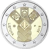 """LITUANIA  2€ 2.018 2018 """"Centenario De La Fundación De Los Estados Bálticos Independientes""""   SC/UNC  T-DL-12.240 - Lithuania"""