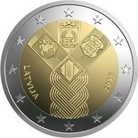 """LETONIA  2€ 2.018 2018 """"Centenario De La Fundación De Los Estados Bálticos Independientes""""   SC/UNC  T-DL-12.241 - Latvia"""
