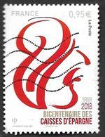 FRANCE 2018  - Bicentenaire Caisse Epargne -  Oblitéré - 2010-.. Matasellados