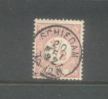 Kleinrond Schiedam Op Nvph 30 - 1852-1890 (Guillaume III)