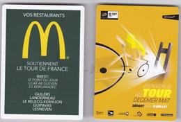 Publicité McDonald's Tour De France 2018 Brest Départ Jeudi 12 Juillet ( Carte De Circulation Routière ) - McDonald's