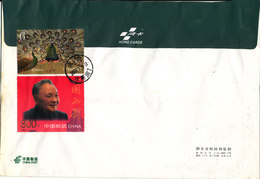 P. R. Of China Registered Cover Sent Air Mail To Denmark 3-1-2008 (big Size Cover) Stamps On The Backside Of The Cover - 1949 - ... People's Republic
