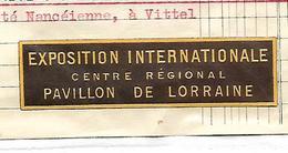 Facture Avec Vignette Exposition Pavillon LORRAINE1937 / Meurthe Et Moselle / BAYON / D. VOELCKER / Fabrique De Chicorée - France