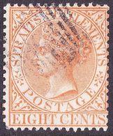 INDIA 1893 QV 3 Anne's Orange SG93 Used - 1882-1901 Empire