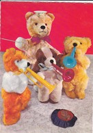JOUETS--Ours En Peluche Musiciens Des Rues--( Ours En Peluche + Trompettes )--voir 2 Scans - Animales Vestidos