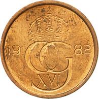 Monnaie, Suède, Carl XVI Gustaf, 5 Öre, 1982, TTB, Laiton, KM:849a - Suède